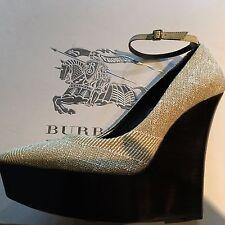 BURBERRY PRORSUM Cream Mustard Platform Court Shoes Eur 40 UK 7 RRP £475 New