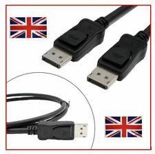 1.8m DisplayPort Cable Plug to Plug HD Lead Display Port *UK SELLER*