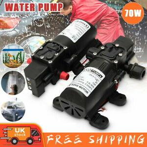 12V Water Pump High Pressure Diaphragm Self Priming 160PSI 8L/Min RV Caravan 70W