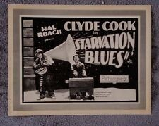 Starvation Blues Title Silent Lobby Card CLYDE COOK Syd Crossley STAN LAUREL 25