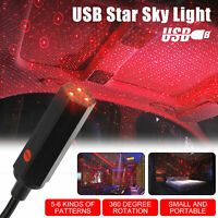 USB Car Interior Roof LED Star Light Atmosphere Starry Sky Night Projector Lamp