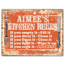 PPKR0503 AIMEE'S KITCHEN RULES Chic Sign Home Kitchen Decor Gift ideas