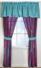 "FEATHERS 'PEACOCK' 4p Window Treatment DRAPERY SET 84""x84"" 2-Panels w/2-Tiebacks"