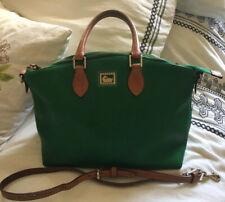 DOONEY & BOURKE Dillen Green Leather Convertible Satchel Crossbody Purse Bag