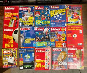 Kicker Sonderhefte und Fussball-Hefte / Bundesliga, WM, CL - Konvolut 15 Hefte