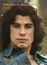 JOHN TRAVOLTA-WHENEVER I'M AWAY FROM YOU SHEET MUSIC-PIANO/VOCAL/GUITAR-1976-NEW