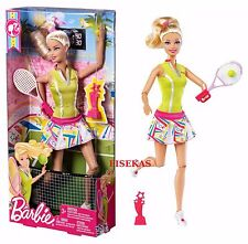 Team Barbie I Can Be Olympic Tennis Player Champion Playset 2011 W3767 Doll NEW