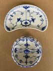 Vintage Royal Copenhagen Blue Fluted Bone Dish 1/559 and Ashtray 1/1001