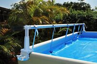 Solaris Kokido Above Ground Cover Solar Reel For 18' Ft Wide Intex Pools w/ Tube