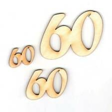 60 Geburtstag Geschenk Hochzeit Jubiläum Deko aus Holz, Streudeko Tischdeko