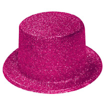 Pink Glitter Sparkle Lincoln Top Hat Hen Night Fancy Dress Party Accessory Q26