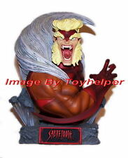 "Marvel X-Men Sabretooth Art Asylum's Rogues Gallery 6"" Bust #1236/3000 Nib 2004"