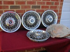 78-87 BUICK REGAL NOS WIRE HUBCAPS 14 INCH