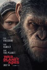 War For The Planet Of The Apes Movie Poster (24x36) - Harrelson, Andy Serkis v2