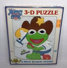 Vintage 1989 Jim Henson's Muppet Babies Baby Kermit 11 Piece 3-D Plastic Puzzle