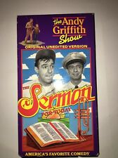The Andy Griffith Show-Sermon ForToday-Original Unedited Version[VHS]TESTED RARE