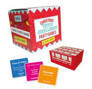 Christmas Trivia Challenge Party Games - Cards Family Fun Secret Santa Quiz