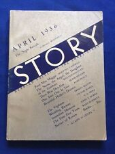"STORY. APRIL, 1936 - WITH CORNELL WOOLRICH'S ""THE NIGHT REVEALS"""