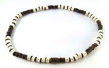 wood necklace surfer beads choker handcraft hippie men beachwear fish bone gift