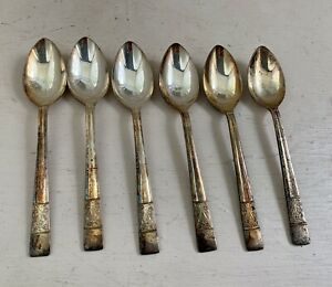 Vintage Silver Plated Sheffield TEA Spoons set  Of 6