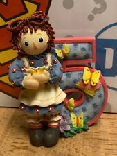 Vintage Enesco Raggedy Ann & Andy Its Great To Be Alive When You're Five Statue