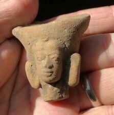 Excavated Ancient Java Majapahit Clay Idol Head 14th-15th Century