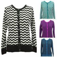 Women's Chevron Cardigan Sweater Plus Size 1X 2X 3X