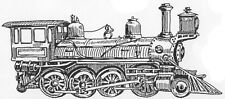 Wood Mounted Rubber Stamps, Vintage Train Stamps, Locomotive, Steam Engine