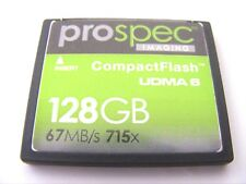 128GB Compact Flash Card UDMA 6   715x ( 128 GB CF Karte ) PROSPEC  gebraucht
