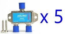 LOT 5 Holland DPD2 Diplexer Blue Dish Cable Signal Satv FTA VHF UHF Five TV2 TV