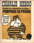 CHARLIE HEBDO N°137 2 juillet 1973 tribunal de la haye pompidou prison REISER