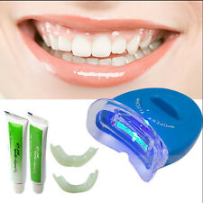 LED White Light Teeth Whitening System Kit Tooth Whitelight Gel Oral Cleaner New