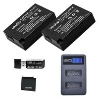 UltraPro 2-Pack LP-E17 Replacement Battery with Rapid LCD Dual Charger...