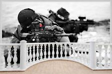 Enorme 3D balcón Ejército de los combatientes francotirador Pegatinas de Pared Wallpaper Mural 906