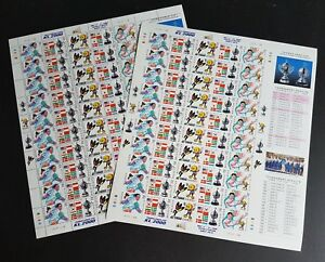2000 Malaysia Sports Badminton Thomas Uber Cup Uncut Full Sheets (Perf + Imperf)
