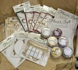 Katy Sue Designs 'Flower Soft' Card Toppers & 30ml tubs bundle, part used