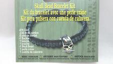 Parachute Cord Skull Bead Bracelet Kit - Black / Gray