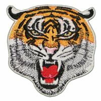 """Tiger Largest Cat Apex Predator Embroidered Iron on or sew on Patch LARGE 4"""""""