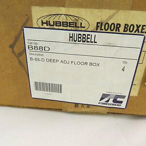 Hubbell B88D Deep Adjustable Floor Box B-88-D - case of 4 boxes