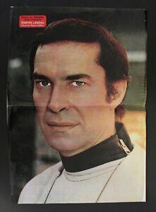 "1977 Space 1999 MARTIN LANDAU COM. JOHN KOENIG Spanish Vintage Poster 47cm 18.5"""