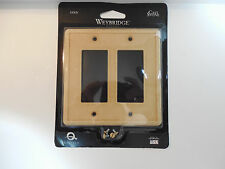 Weybridge Classic Cast Stone SWP105-07  GFCI - Double Plate - Gold