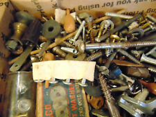 Lots of screws washers hooks copper tacks springs workshop supplies fix build