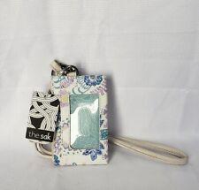The Sak Women's Silverlake Id Lanyard Card Case - Stone Flowing Floral BNWT
