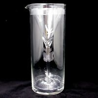 Grey Goose Vodka Glass Pitcher + Martini Stem Glass Pair