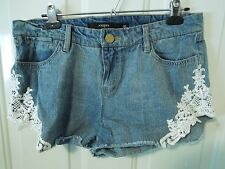 HARPER womens shorts size 30 cut offs with lace finish distressed
