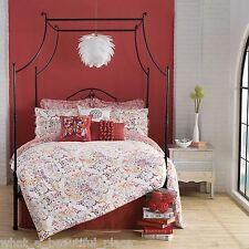 9-Pc Anthology Zenya King Comforter Set Vintage Bohemian Chic Floral Butterfly