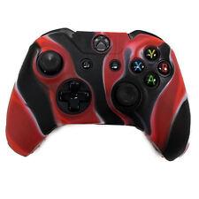Funda Protectora de Silicona para Mando de Xbox One - Negra Roja