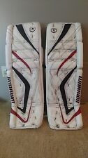 Warrior Messiah Pro-Spec, 34+2 goalie pads, White/Red/Black