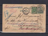 """GERMANY 1900, Reichpost, WMK and 2 ears on top of """"g"""" in Wohnung - various Wmk"""
