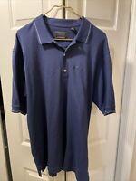 Greg Norman Golf Shirt Polo The Shark Blue Men's Large